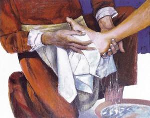lavement  pied